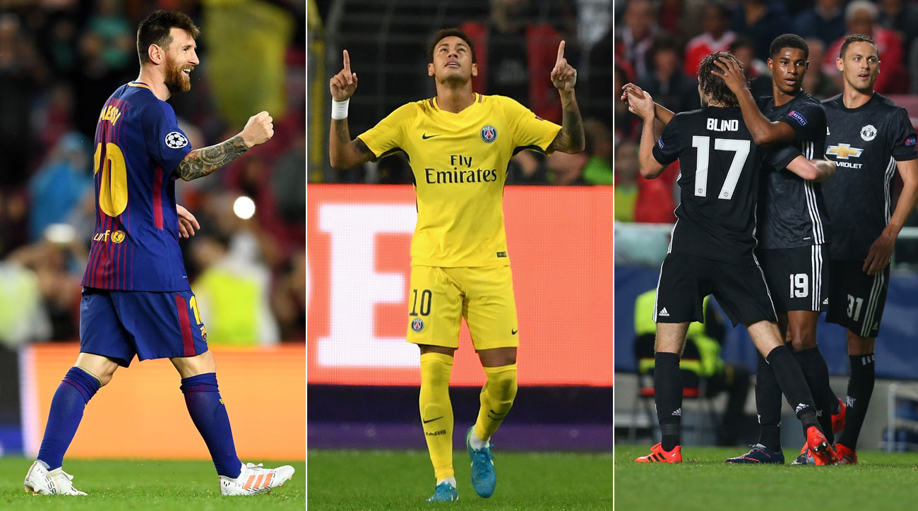 Barcelona, Man United, PSG Remain Perfect as UCL Group Stage Hits Halfway Point