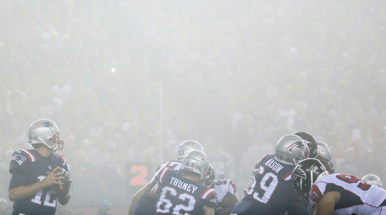 A foggy night in Foxborough made an interesting backdrop for a Super Bowl 51 rematch, won again by the Patriots.