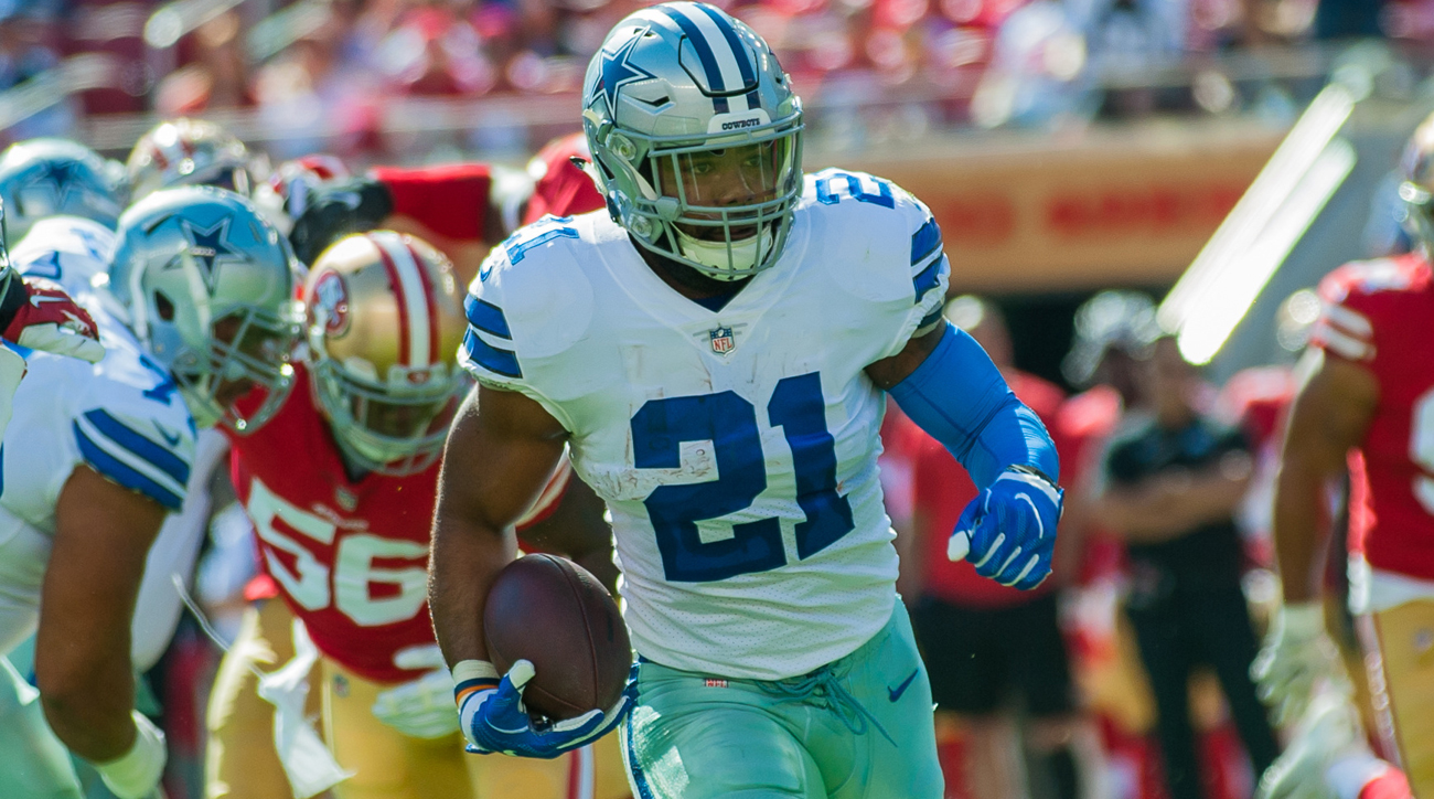 Cowboys running back Ezekiel Elliott ranks fifth in the NFL with 90.0 average rushing yards per game.