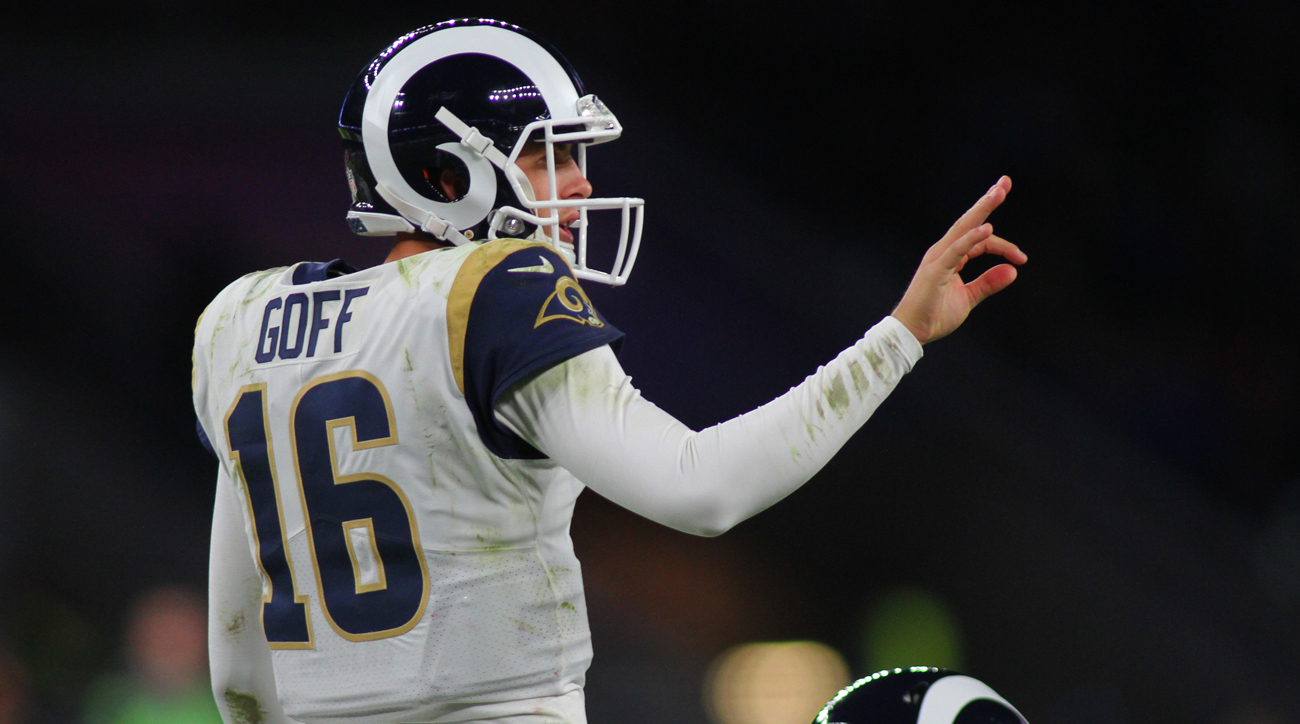 Though seven games this season, Jared Goff has nine touchdown passes, nearly double his total of five as a rookie in seven starts.