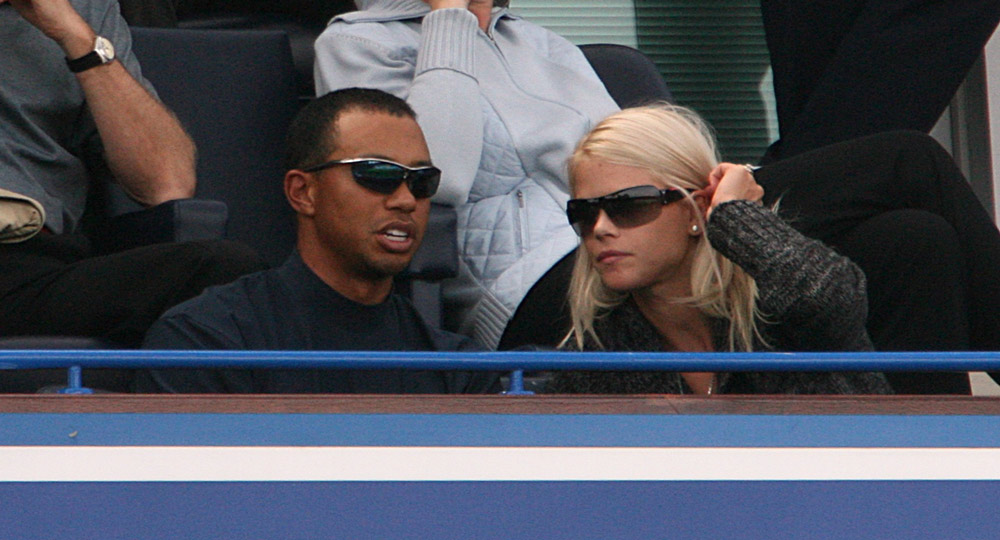 Tiger and Elin watched Chelsea play Liverpool in 2008.