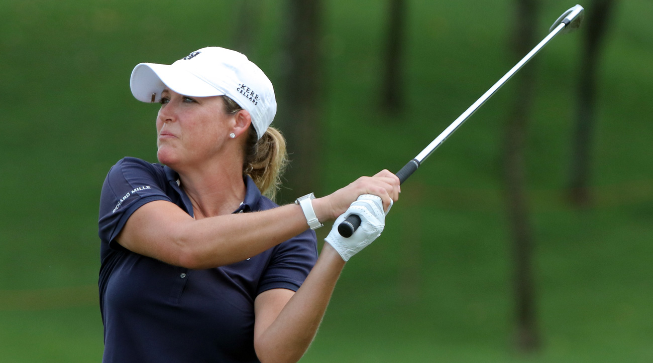Cristie Kerr in action  during day three of the Sime Darby LPGA Malaysia at TPC Kuala Lumpur.