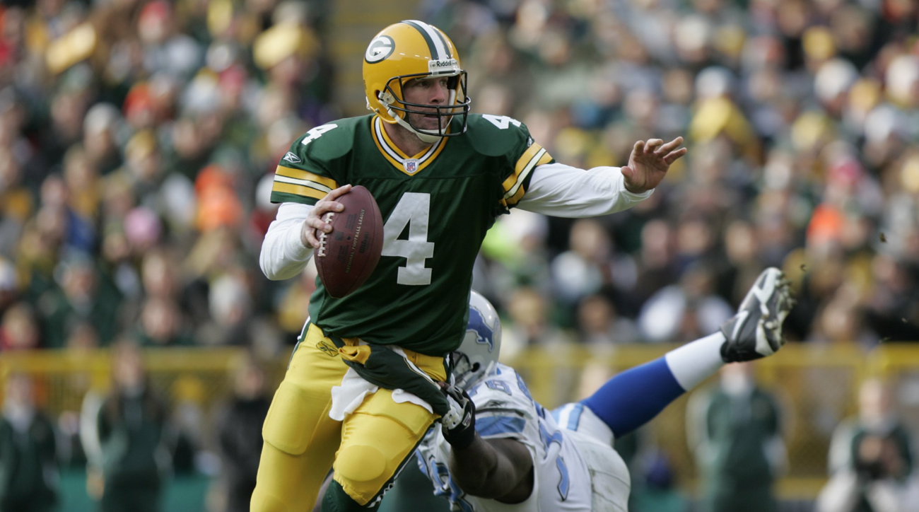 Brett Favre retired as the all-time NFL leader in touchdown passes and interceptions. Peyton Manning later passed Favre for the TD crown.
