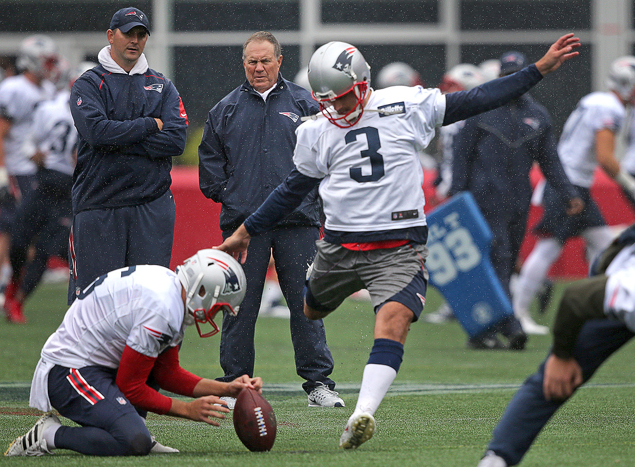 Stephen Gostkowski and Bill Belichick