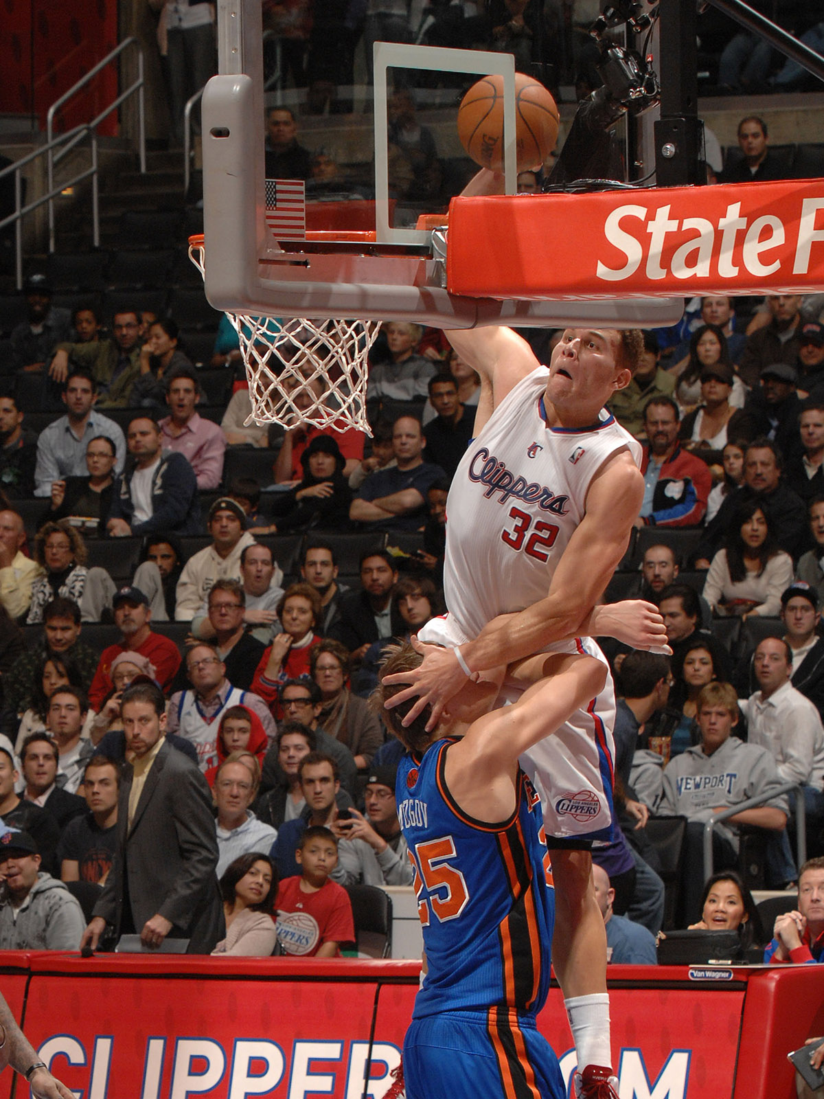 In one of the most famous dunks of his career, Blake Griffin pulverizes Timofey Mozgov on the block.