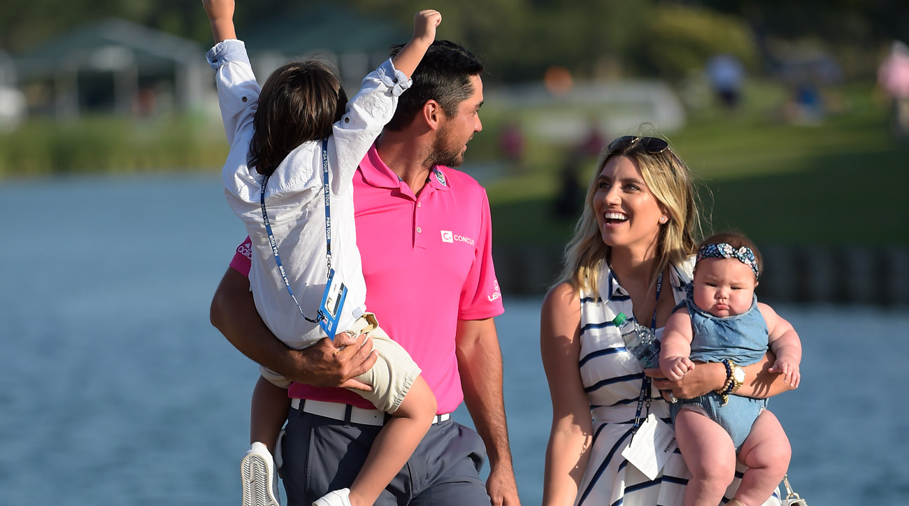 Jason Day and family celebrate his win at the 2016 Players Championship.