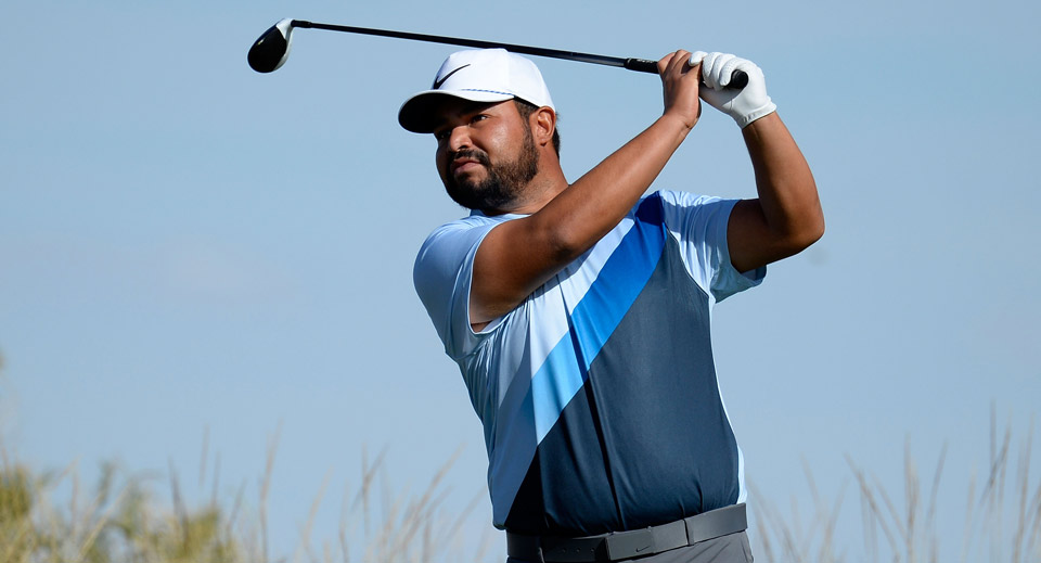A second round of six-under 65 put J.J. Spaun at the top of the leaderboard in the suspended second round of the Shriners Hospitals for Children Open.
