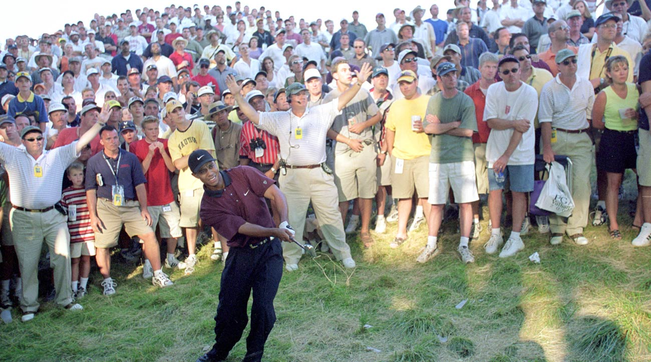 Tiger Woods during the playoff at the 2000 PGA Championship at Valhalla
