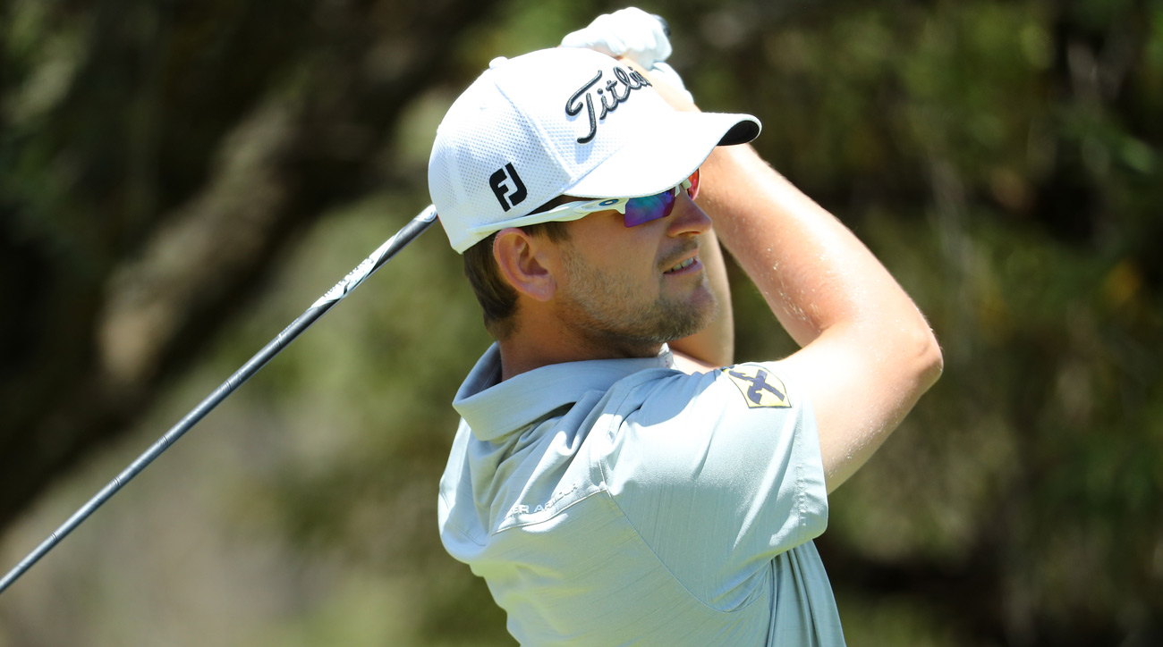 Bernd Wiesberger during the first round of the Nedbank Golf Challenge.