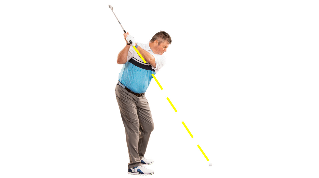 A line from the grip to the ball is your guide to better ballstriking.