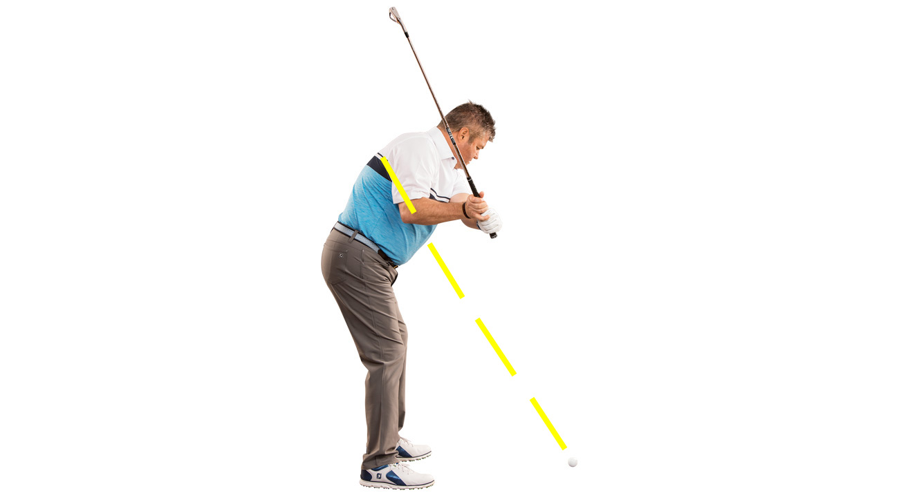 Rotating your shoulders too early puts your hands above the line — and your shots out-of-bounds.