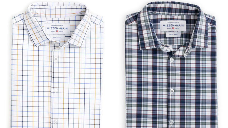 """These performance fabric dress shirts from Mizzen+Main will become a new favorite. The company also makes golf polos, but their collared shirts withstand swampy commutes to both the golf course and the office.                                                                      <p><a class=""""standard-button"""" href=""""https://www.mizzenandmain.com/products/fraser-multi-madras-dress-shirt#p5keUx5jiMUpTA5d.97"""" target=""""_blank"""">Shop Now</a></p>"""