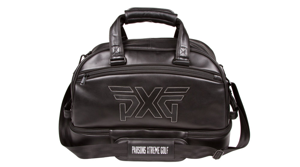 <p>If a set of PXG's custom-built clubs is too much of a stretch for your budget, you can still add a bit of luxe to your golf ensemble with the company's premium logoed bag. Composed of supple black Nappa leather, the bag has a soft-lined interior and a zippered shoe compartment at the bottom, along with an additional removable drawstring pouch.</p>