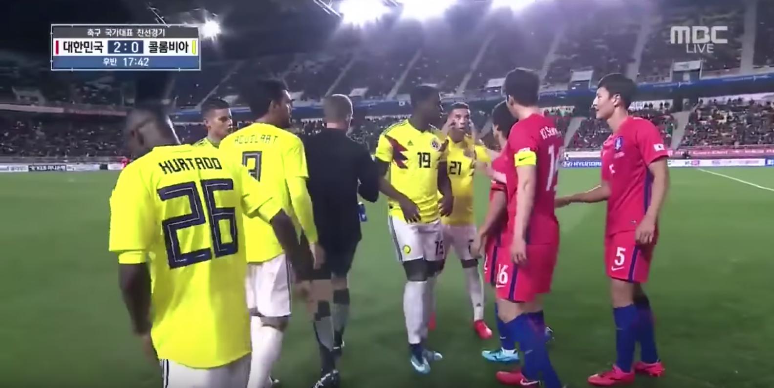 Watch: Colombia's Edwin Cardona Makes Racist Slant-Eye Gesture Against South Korea