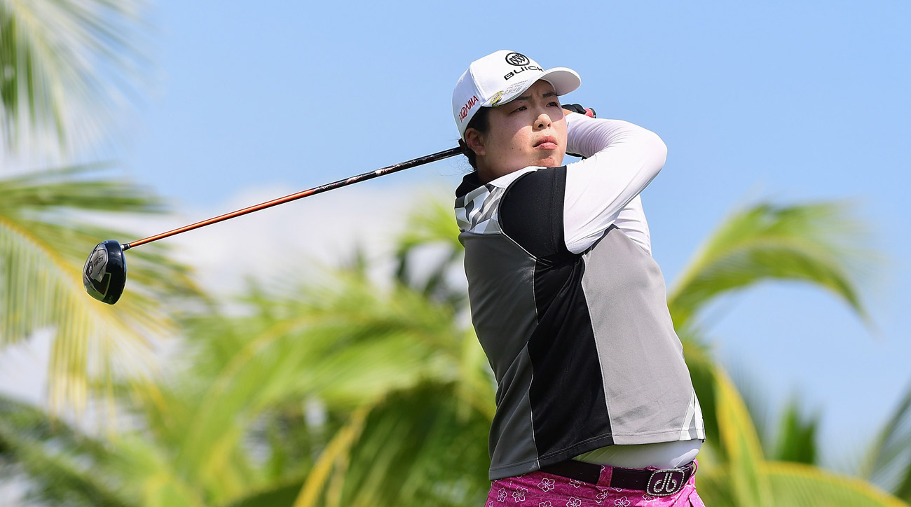 Shanshan Feng of China during the third round of the Blue Bay LPGA.