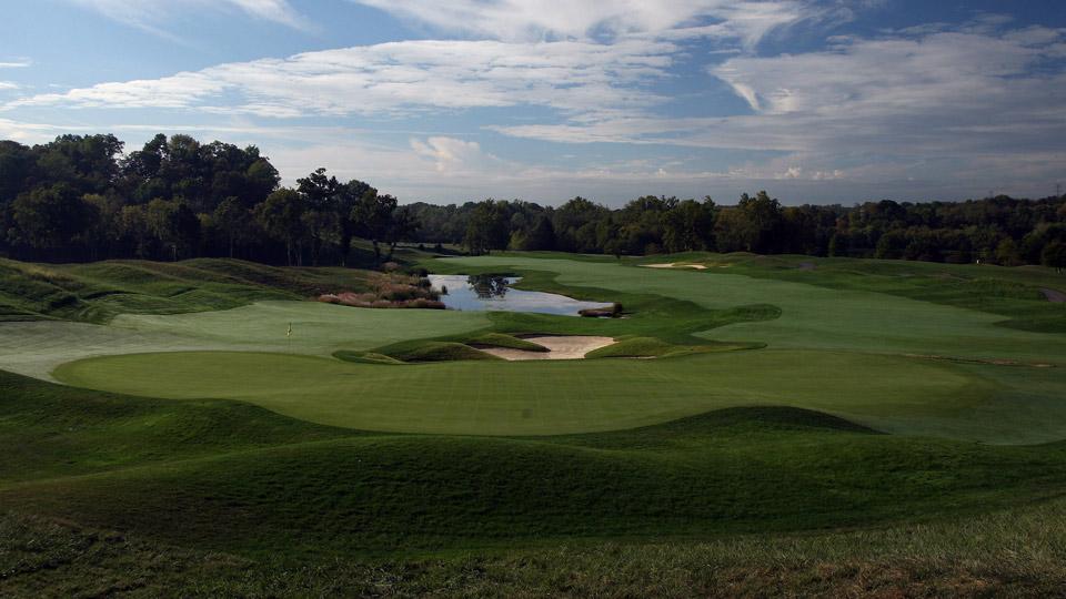 The par-5 18th hole at Valhalla Golf Club.