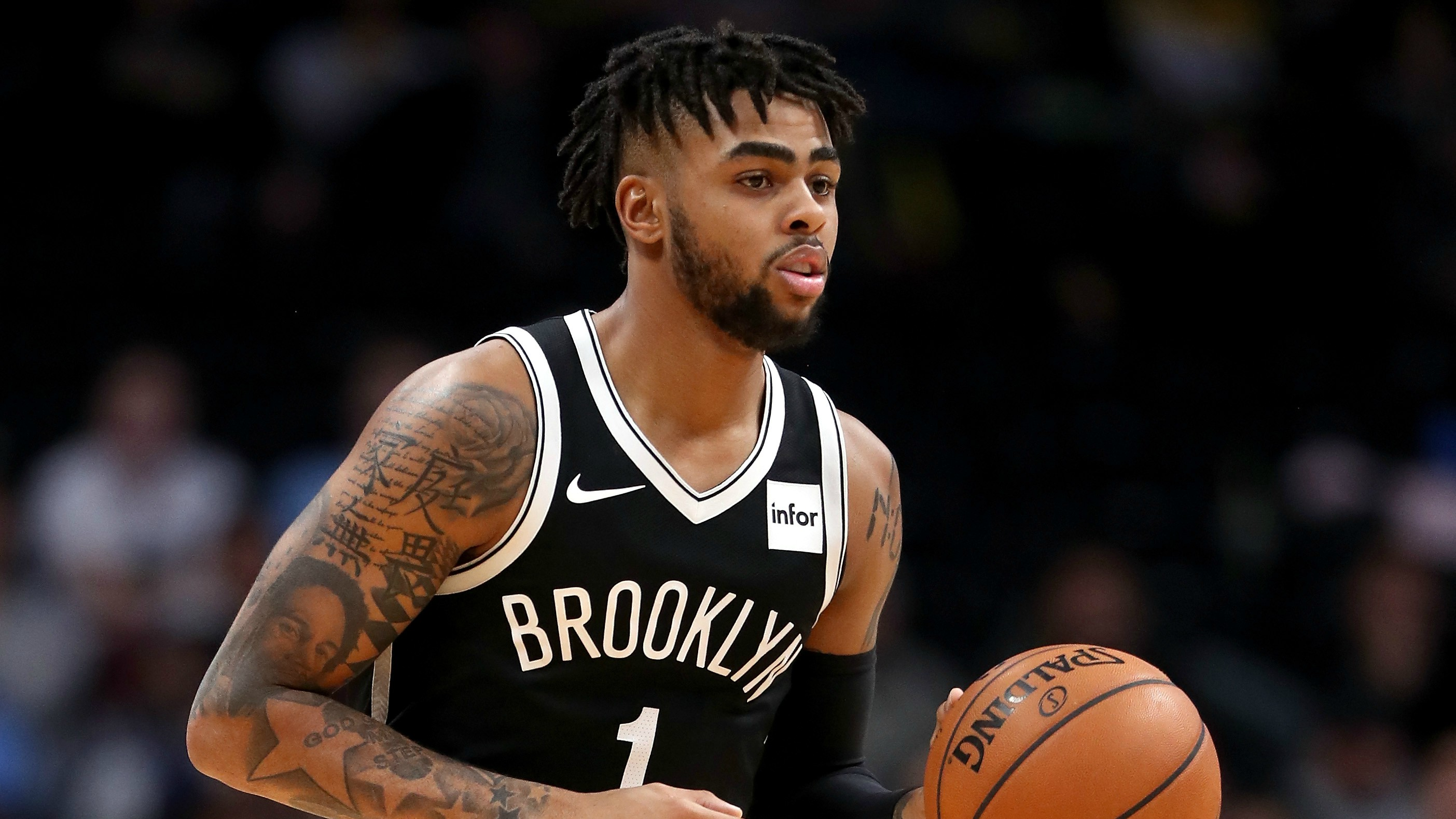 D'Angelo Russell will miss multiple games with a knee contusion.