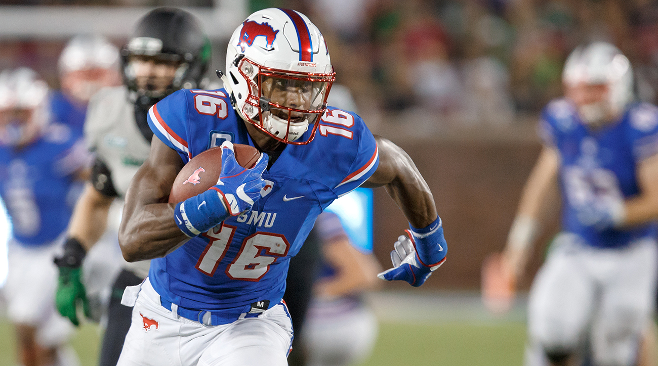 SMU's Courtland Sutton could be the first wideout taken in the 2018 draft.
