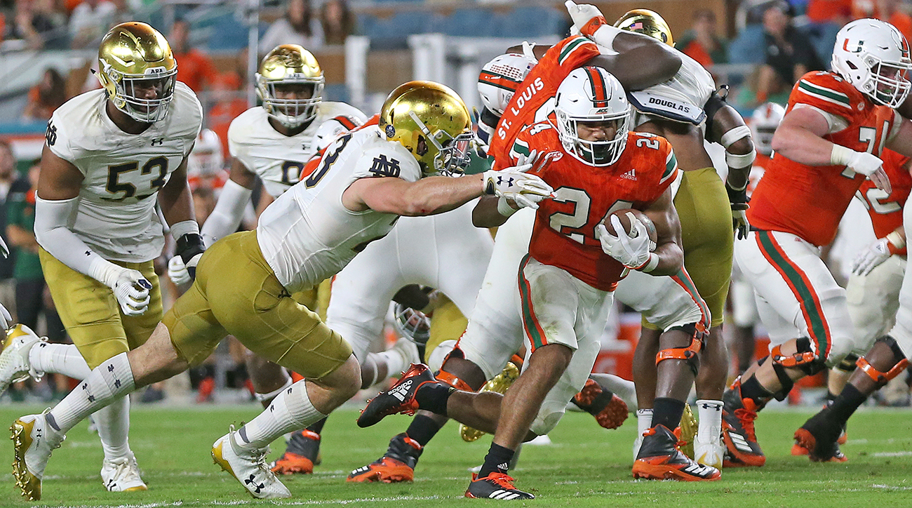 Miami RB Travis Homer is generating buzz as a top 2019 draft prospect.