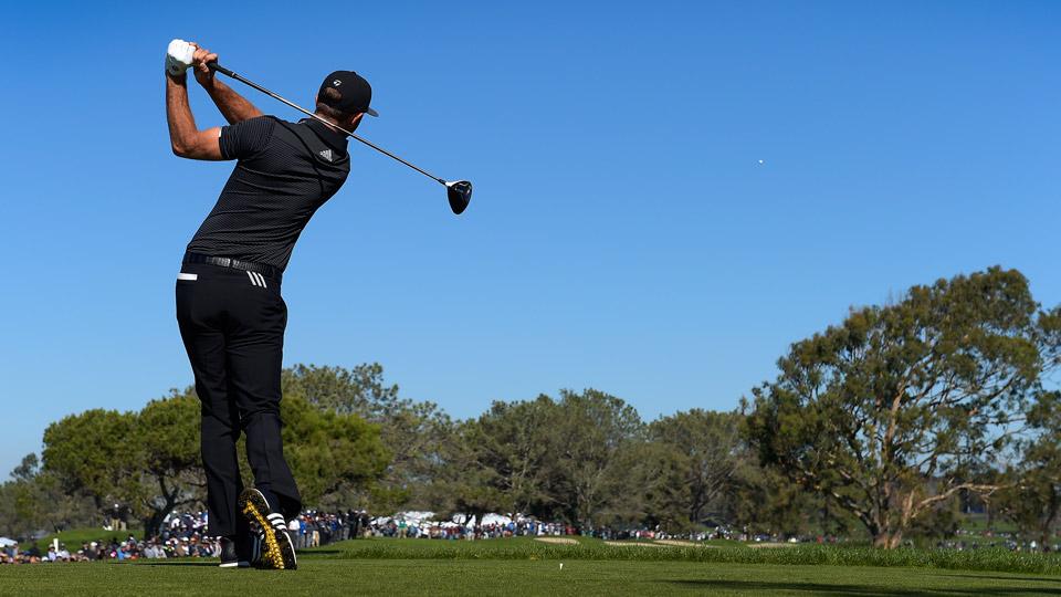 Dustin Johnson was the PGA Tour's longest hitter in the 2016-17 season.