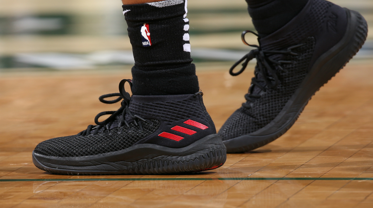 big sale c4e55 1e6f4 ... cheap max 76862 b53a3 Adidas Dame 4 worn by Damian Lillard .