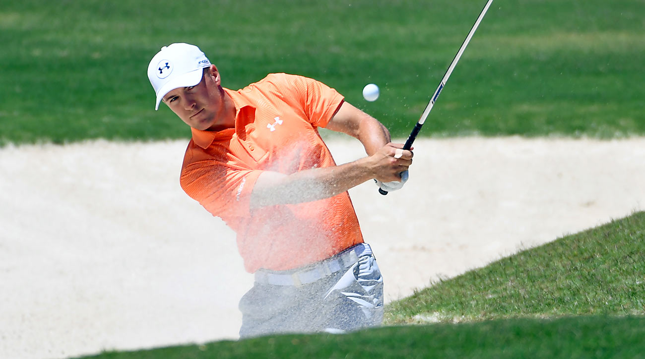 Jordan Spieth made five bogeys in his opening round but still finished at one-under 70.