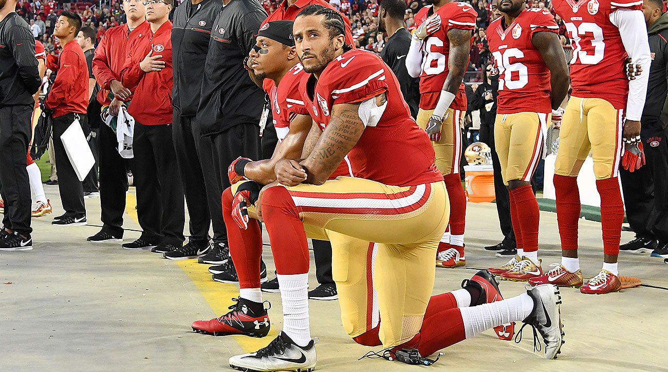 Colin Kaepernick accepts Muhammad Ali Legacy Award from Beyonce