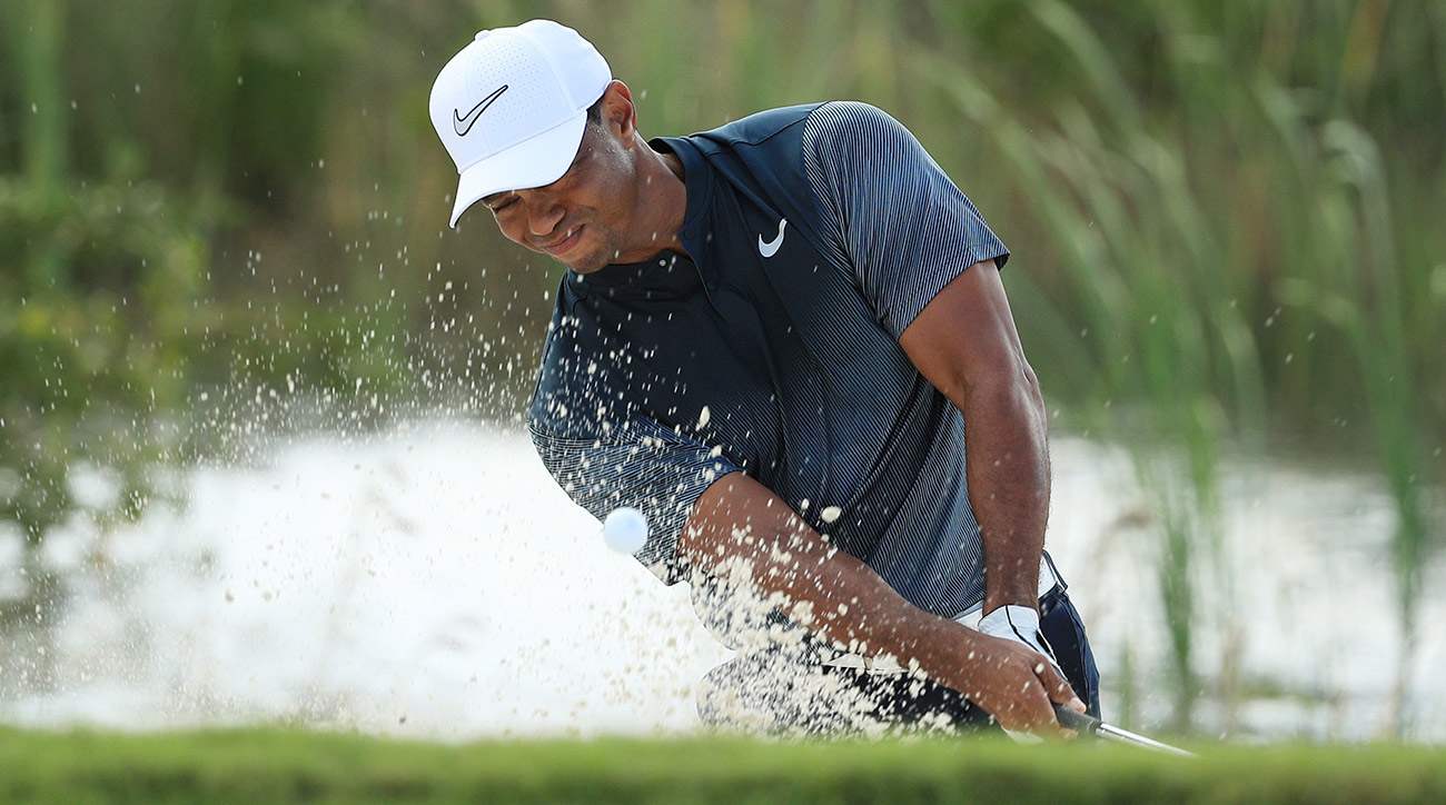 Tiger Woods's third round in the Bahamas didn't go as well as the first two.