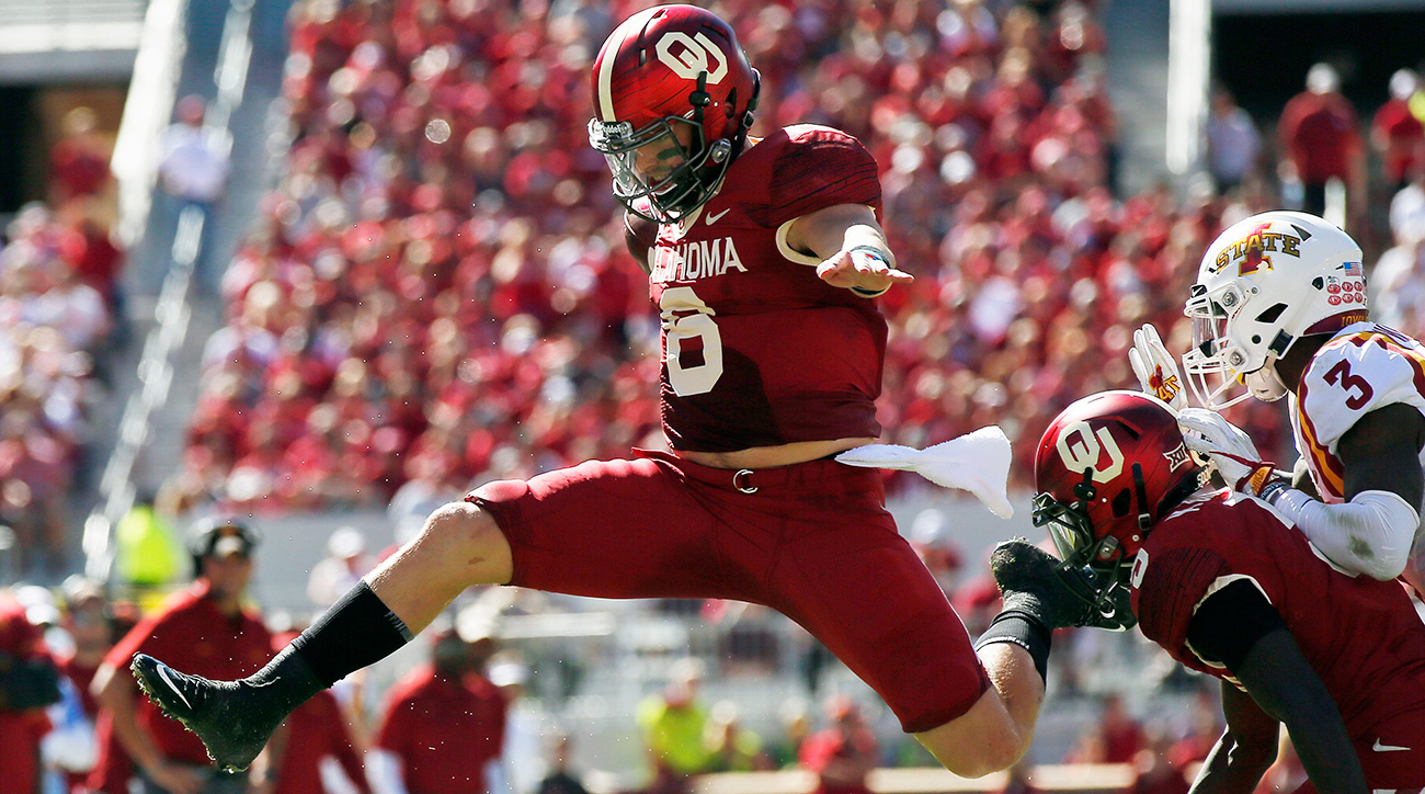 Mayfield threw just five interceptions all year (and none after Nov. 4) and shone brightest in the Sooners' biggest games, taking the drama out of the Heisman race with weeks to spare.