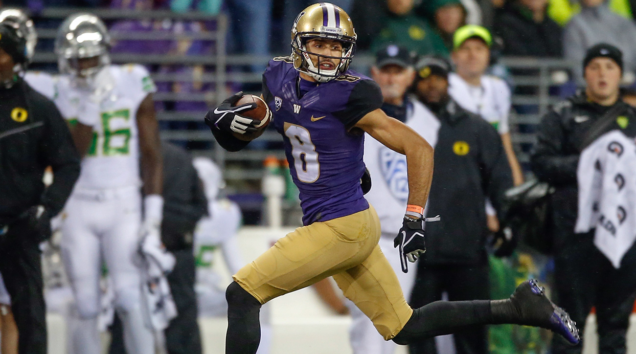 No player has found the end zone on special teams more often than Pettis, who returned his ninth career punt for a touchdown in November, capping a year in which he took it the distance four times.