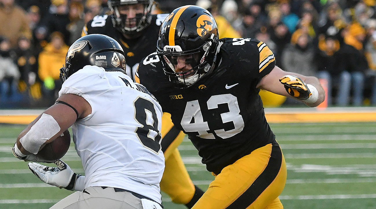 The heart and soul of the Hawkeyes' disciplined defense, Jewell compiled 125 total tackles, the third-most in the country.