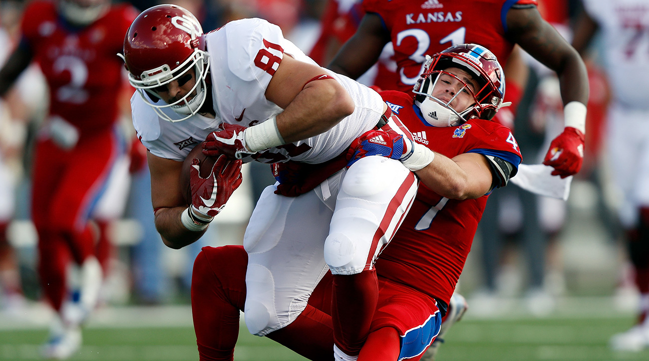 Andrews led the Sooners in receptions and paced the nation's tight ends with 906 receiving yards, thriving as Mayfield's most dependable target in all game situations.
