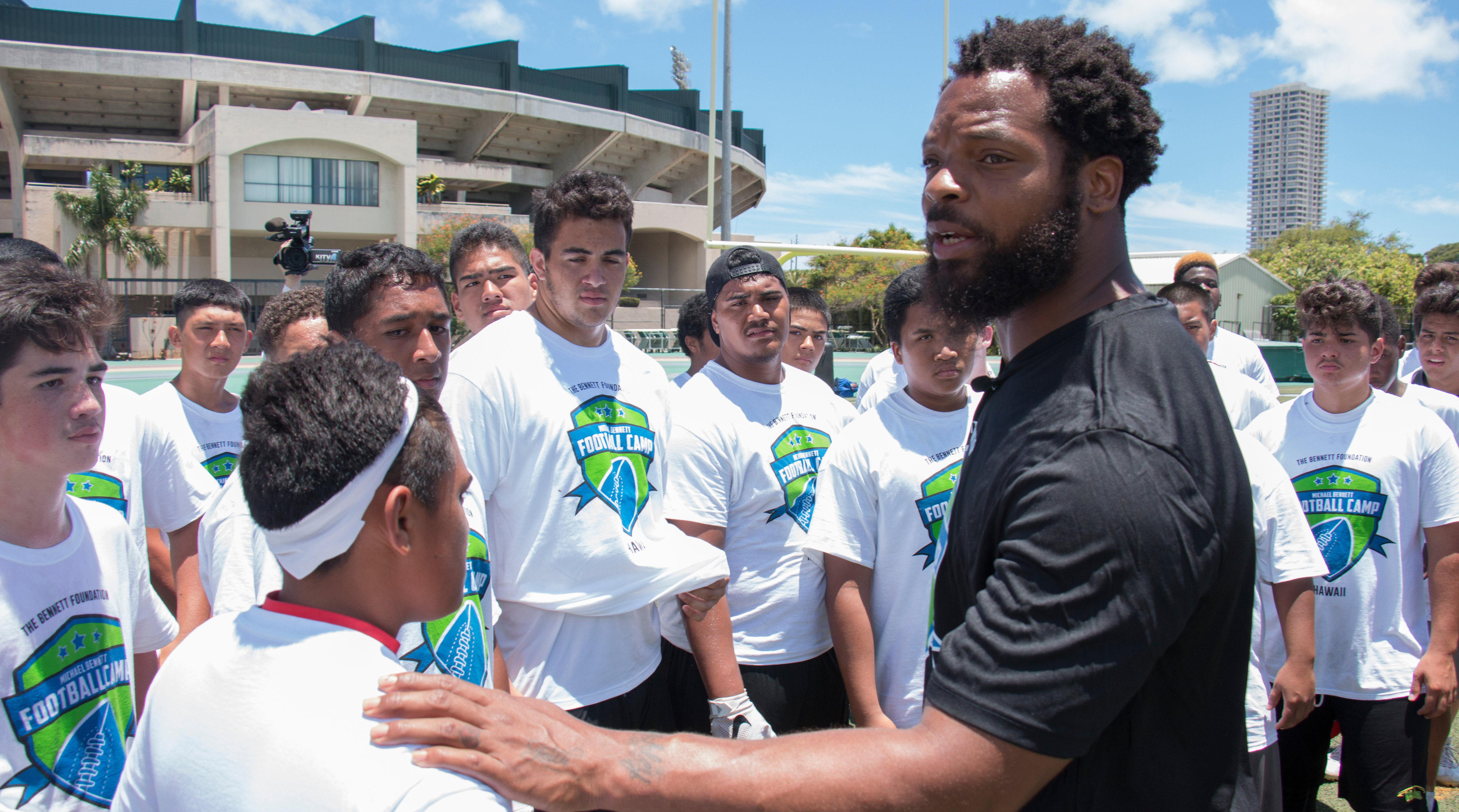 Seahawks defensive end Michael Bennett.