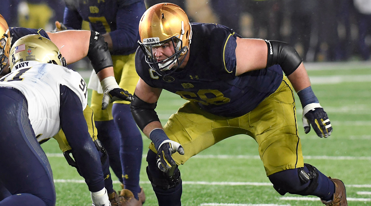 "McGlinchey is bound for the NFL, where he'll be one of the most coveted tackle prospects in the class, a 6'8"", 315-pound technician."