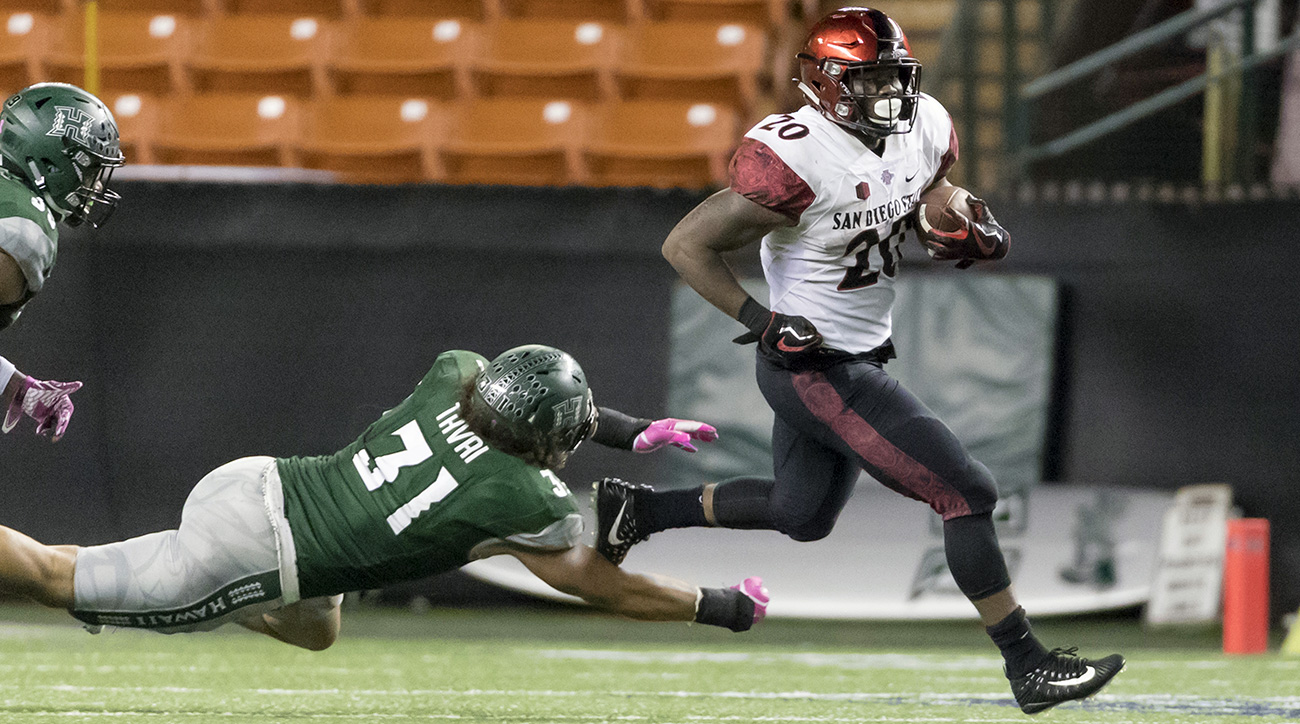In addition to outdueling Love in San Diego State's upset win over Stanford, Penny closed the year out with four straight 200-plus-yard games.