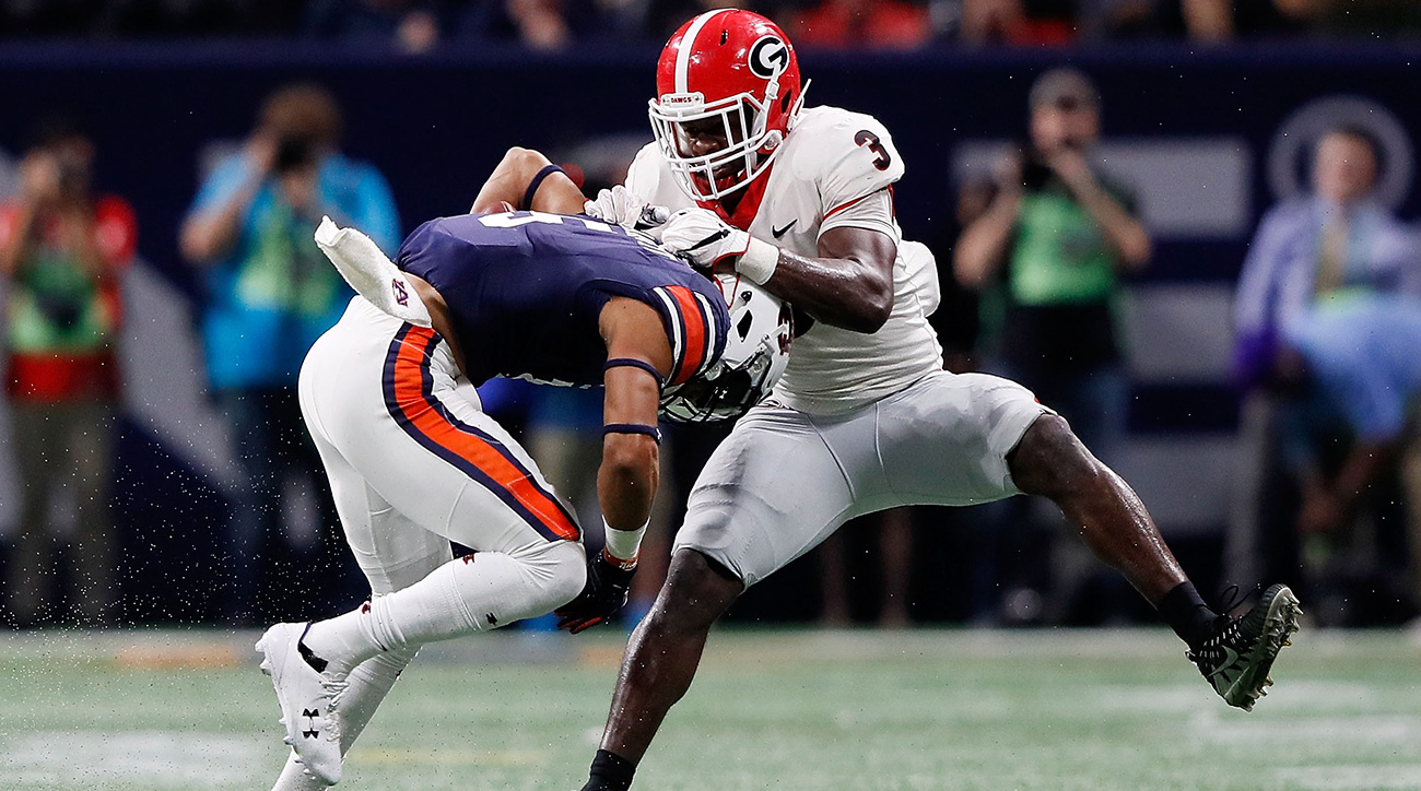 Smith's sideline-to-sideline speed set the tone for Georgia's senior-laden defensive unit all year. He had 10 solo tackles in the Bulldogs' first SEC championship game win since 2005.