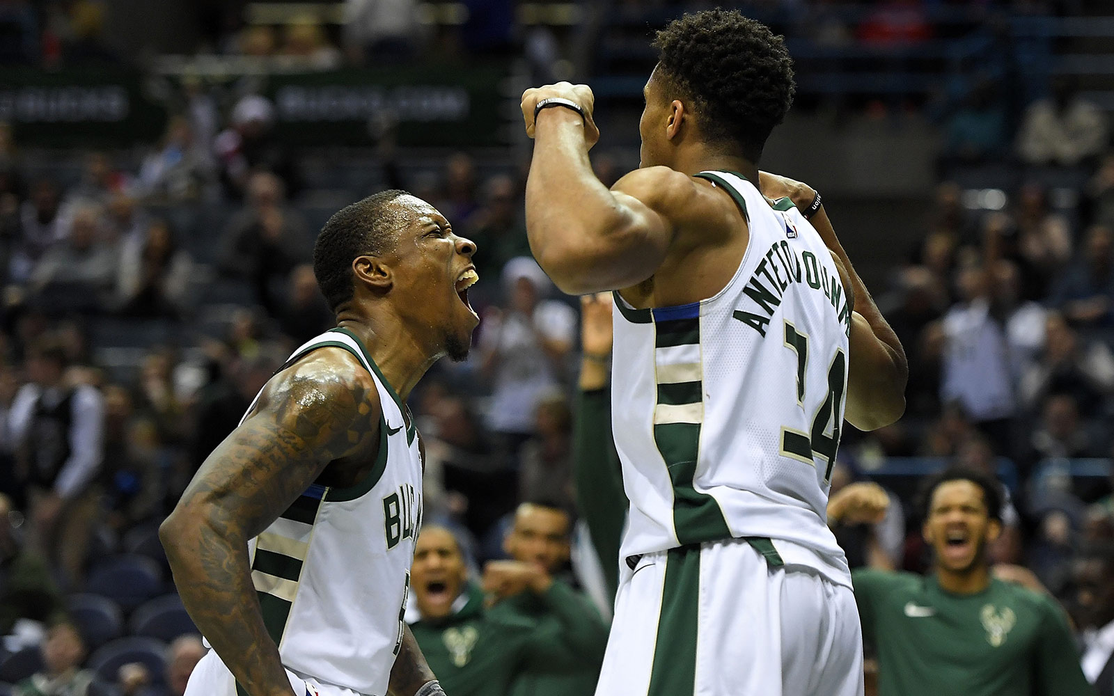 Eric Bledsoe and Giannis Antetokounmpo