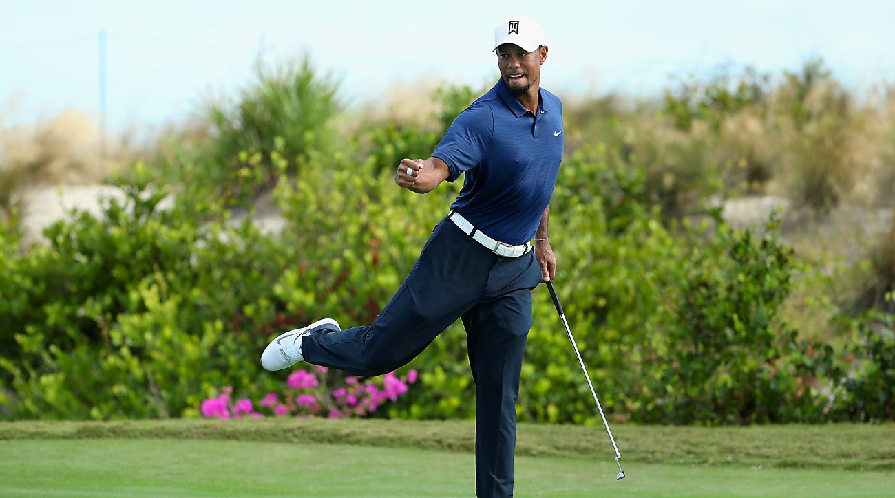Woods looked good while tying for 9th in his return at the Hero World Challenge.