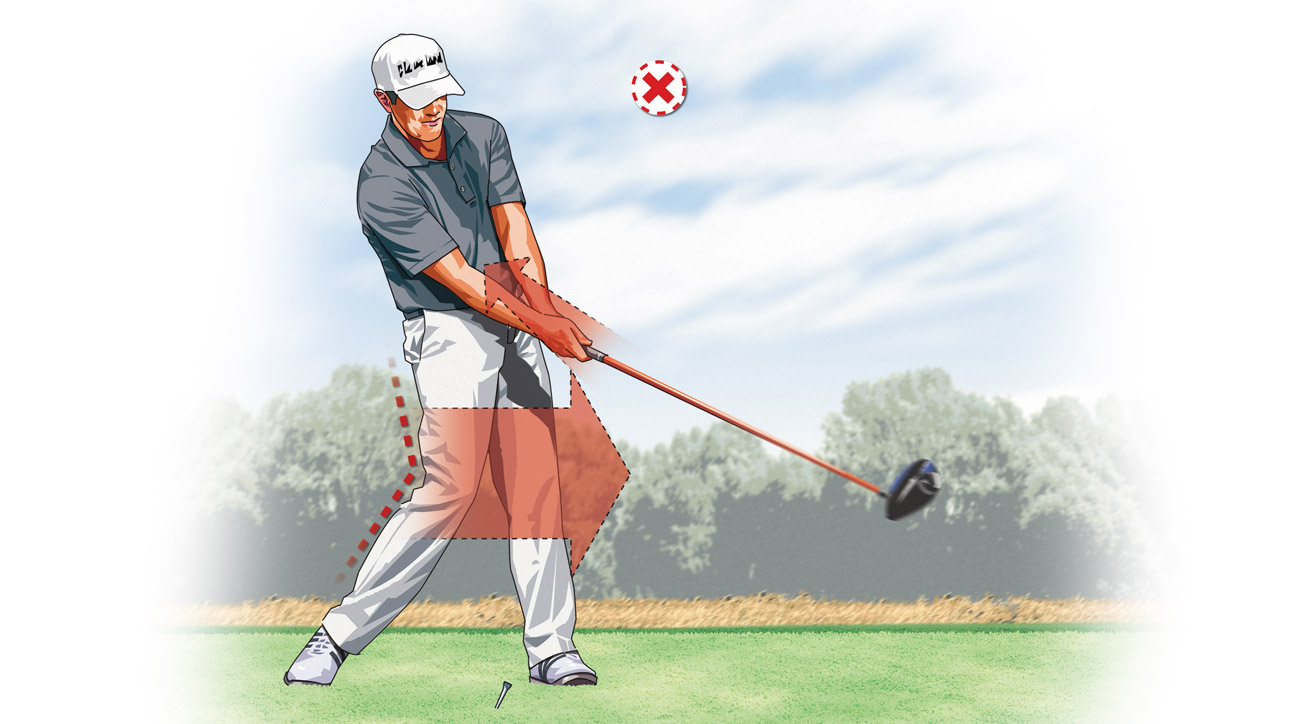 Many weekend golfers slide their lower body toward the target in an attempt to gain more power.
