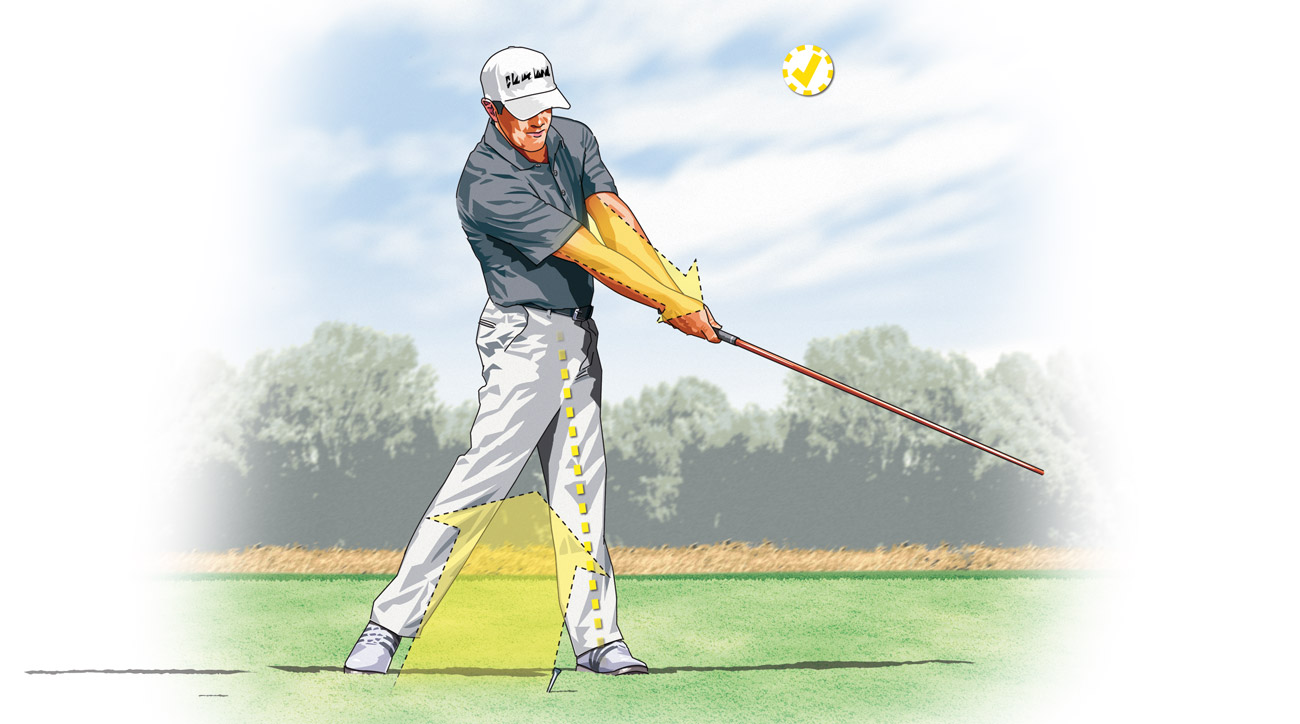 Instead of sliding your legs through impact, push hard off the ground.
