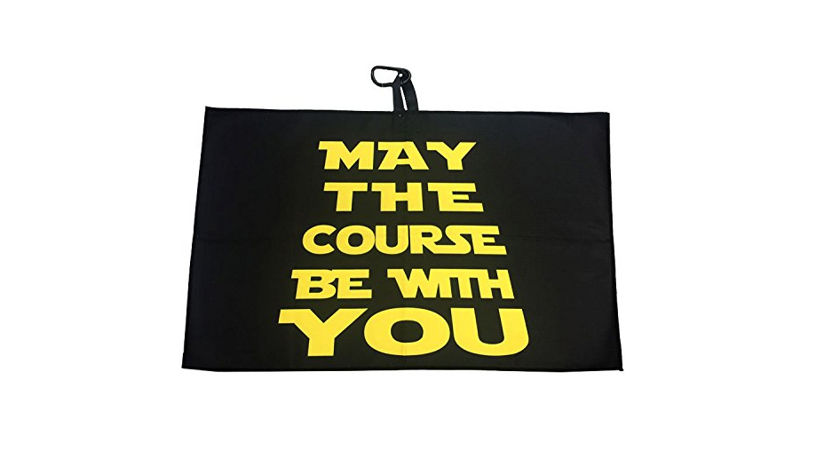 Giggle Golf May The Course Be With You Waffle Golf Towel.