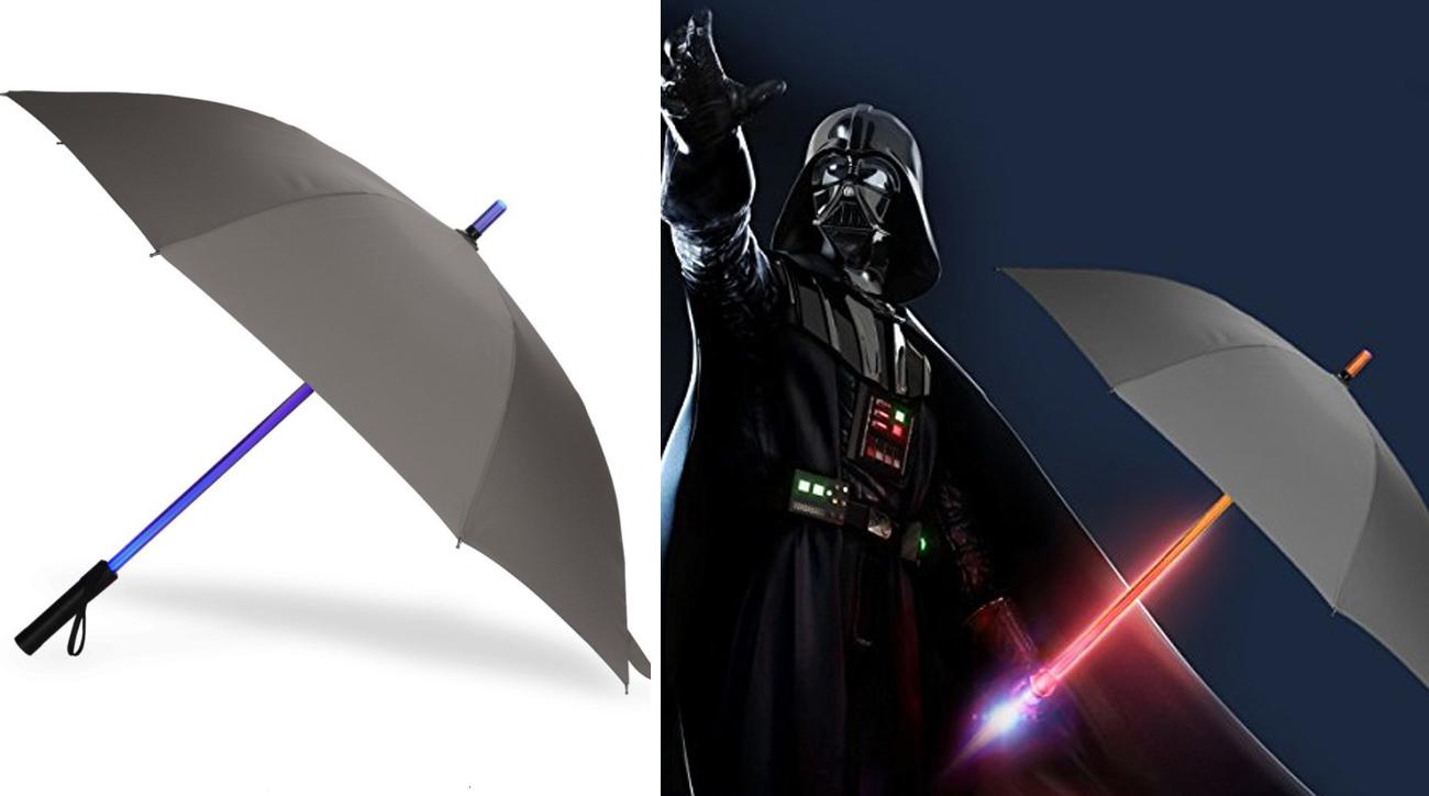 Lightsaber Umbrella - Bestkee LED Laser Sword Light up Golf Umbrellas with 7 Color Changing On the Shaft / Built in Torch at Bottom