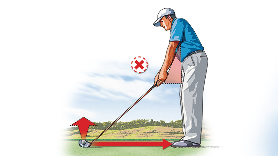 Overextending the arms at address is a common fault among weekend golfers, and it's a good way to balloon your drives and lose distance.