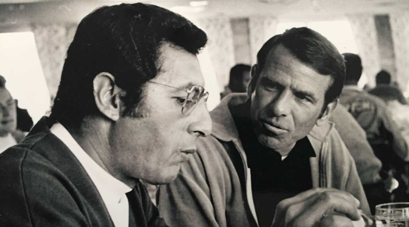 Frank Chirkinian (left) with Chuck Will.