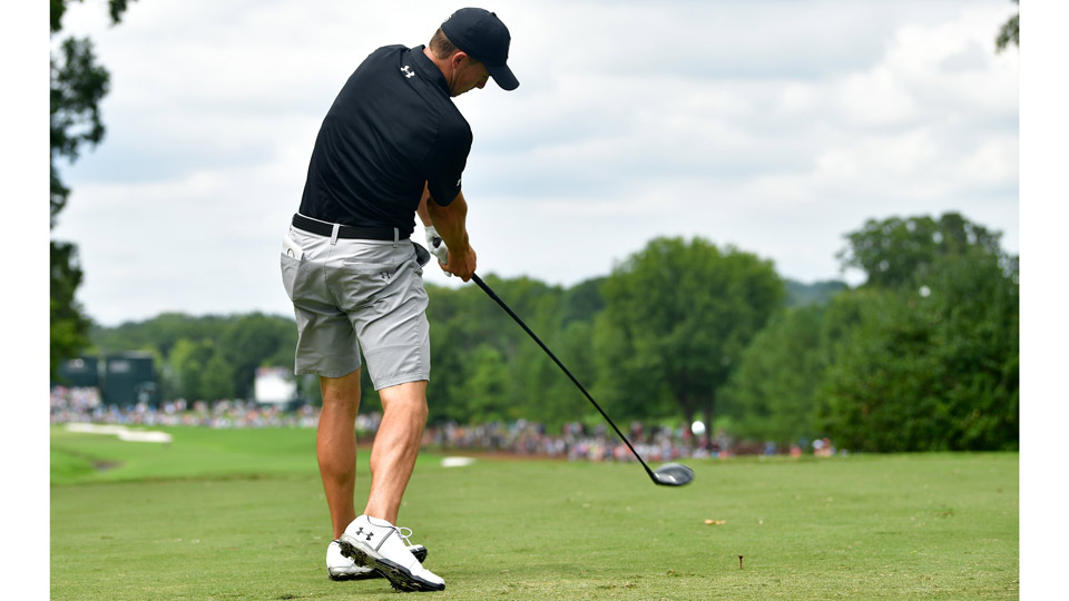 Jordan Spieth took advantage of the opportunity to wear shorts during PGA Championship practice rounds.