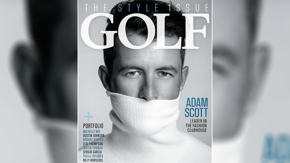 Adam Scott's cover look was inspired by an iconic photo of James Dean.