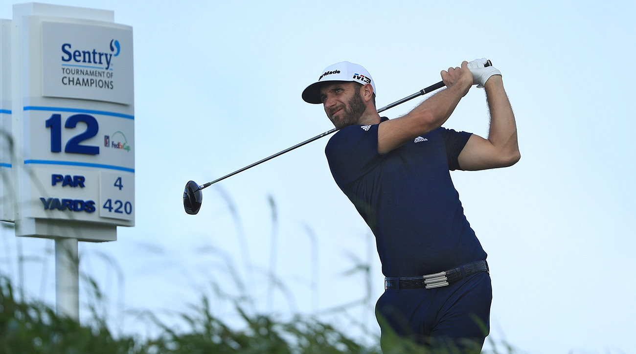 Dustin Johnson led the field in driving distance at Kapalua.