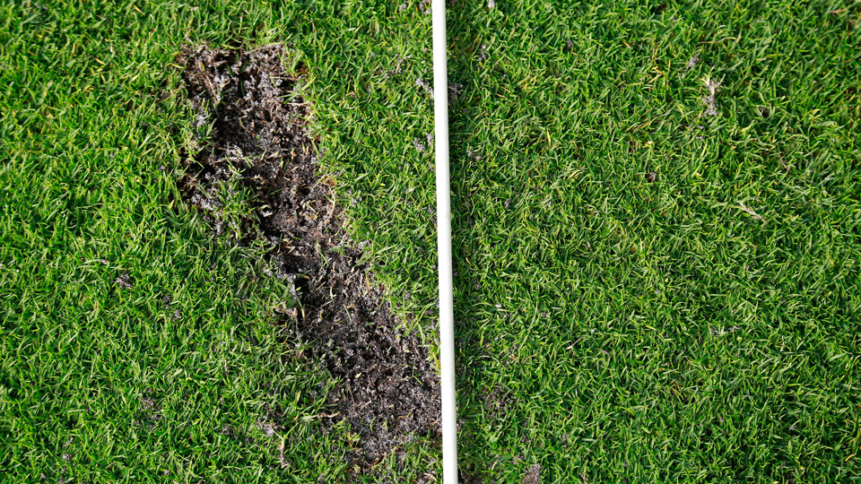 You may feel like you flushed it, but trust your divot to tell you the whole truth about the club's path through the impact zone.