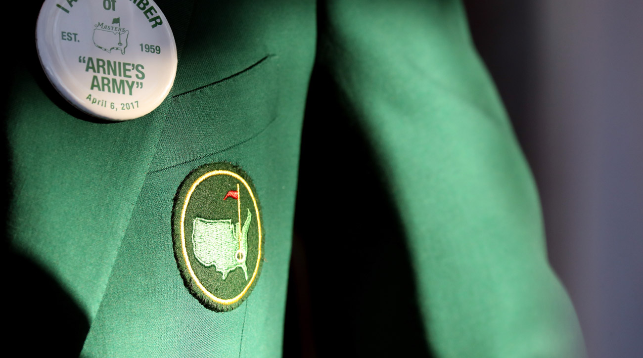 An authentic Masters green jacket seen during the first round of the 2017 Masters.