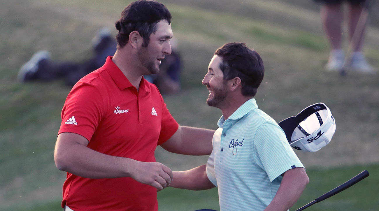Jon Rahm took down Andrew Landry in a playoff at the CareerBuilder.